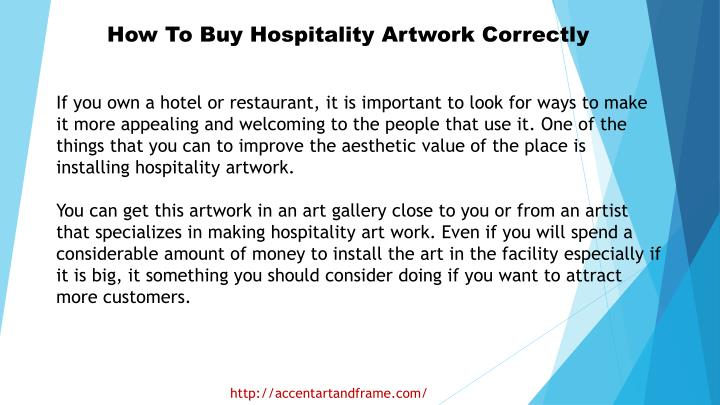 How To Buy Hospitality Artwork Correctly