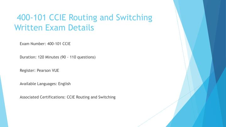 400 101 ccie routing and switching written exam details