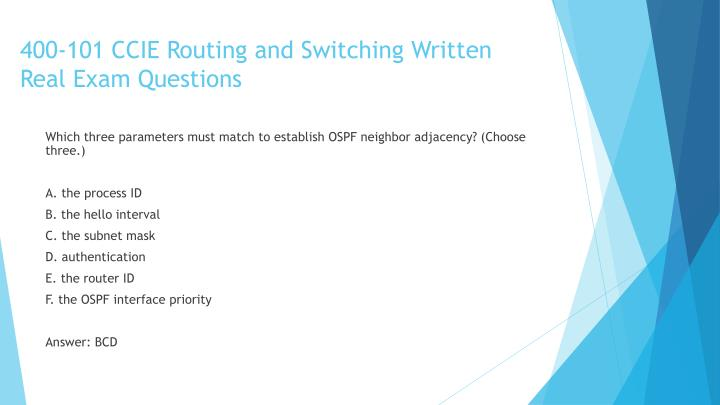400-101 CCIE Routing and Switching Written Real Exam Questions