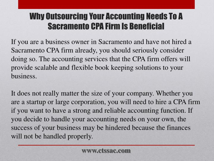 Why outsourcing your accounting needs to a sacramento cpa firm is beneficial1