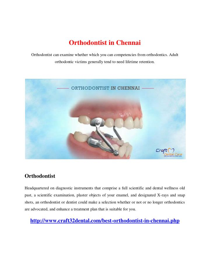 Orthodontist in Chennai