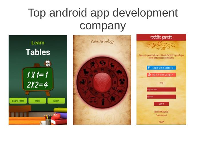 Top android app development
