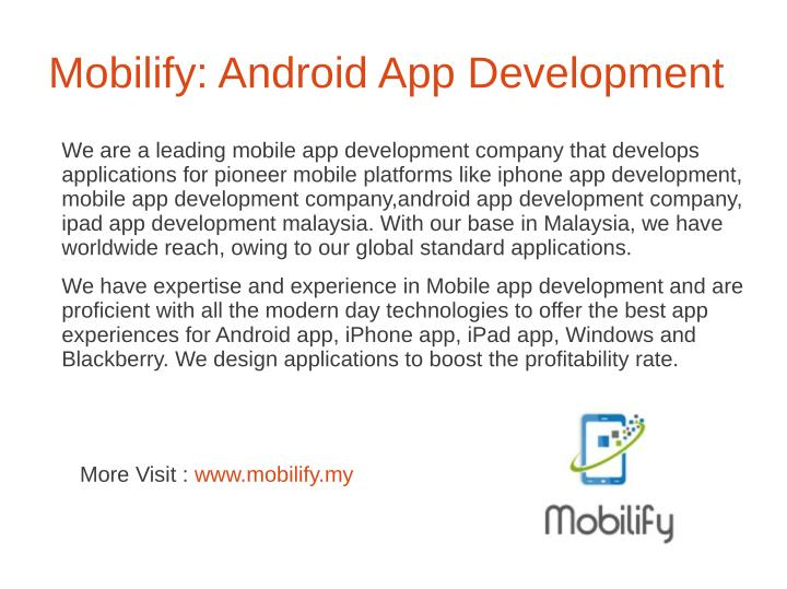 Mobilify: Android App Development