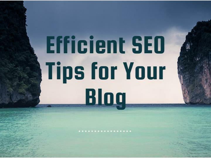 Efficient seo tips for your blog
