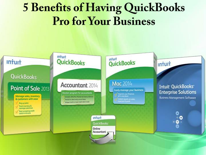 5 benefits of having quickbooks pro for your business