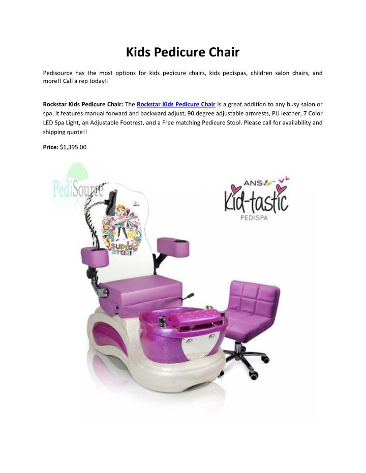 Kids Pedicure Chair