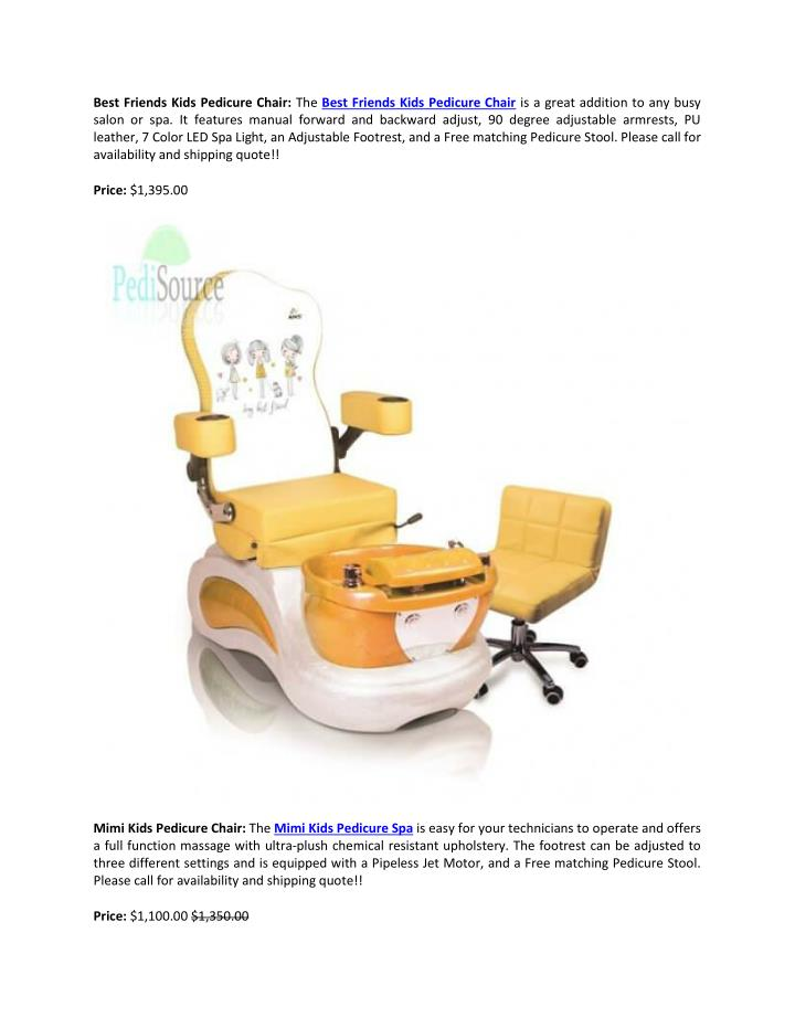Best Friends Kids Pedicure Chair: