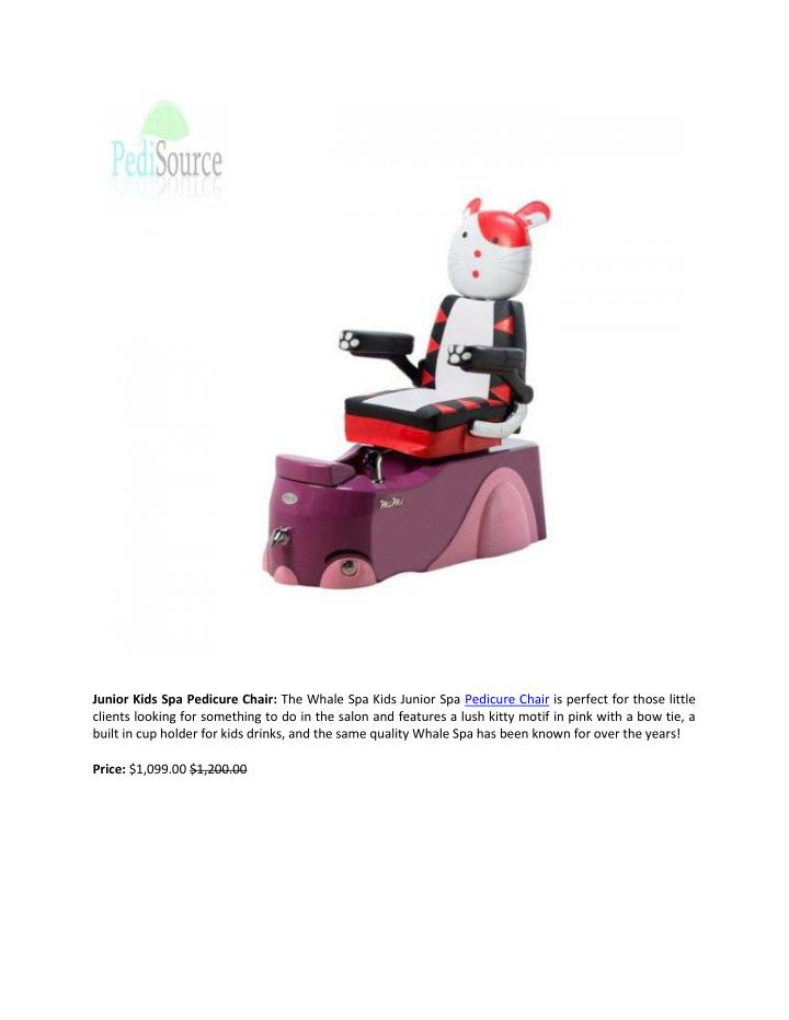Junior Kids Spa Pedicure Chair: