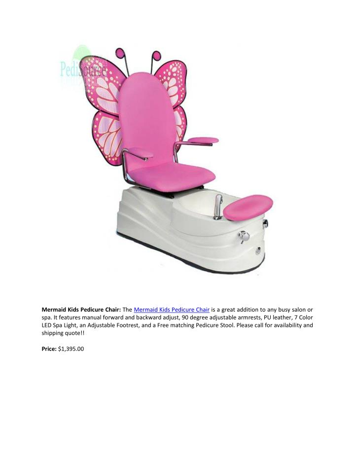 Mermaid Kids Pedicure Chair: