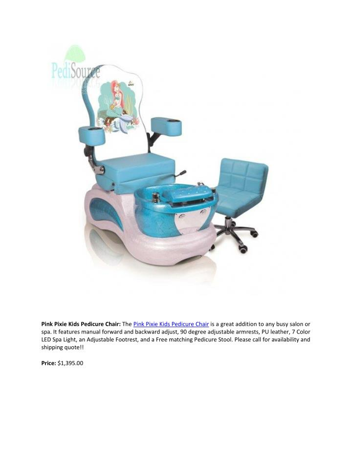 Pink Pixie Kids Pedicure Chair: