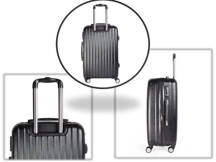 Discount hard shell lightweight 4 wheel suitcase for 20 24 28