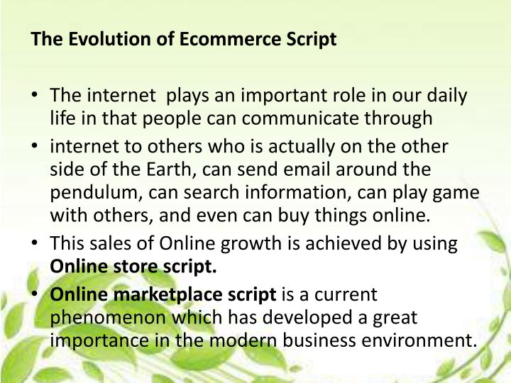The Evolution of Ecommerce Script