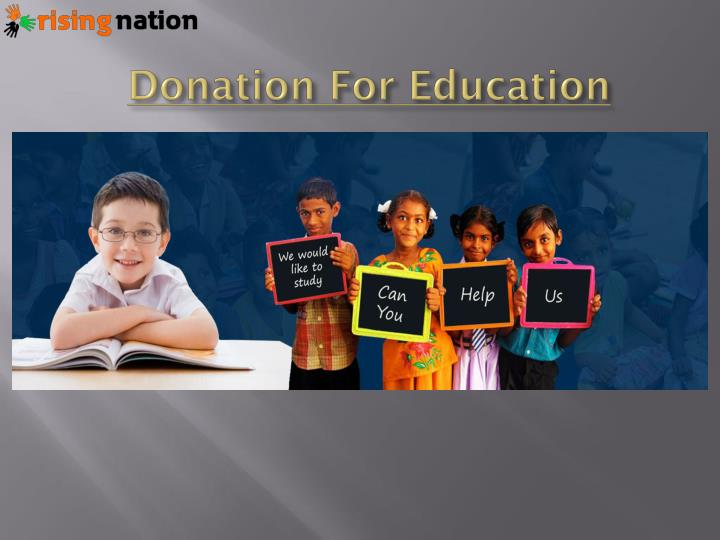 Donation for education
