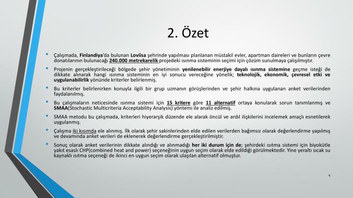 2. Özet