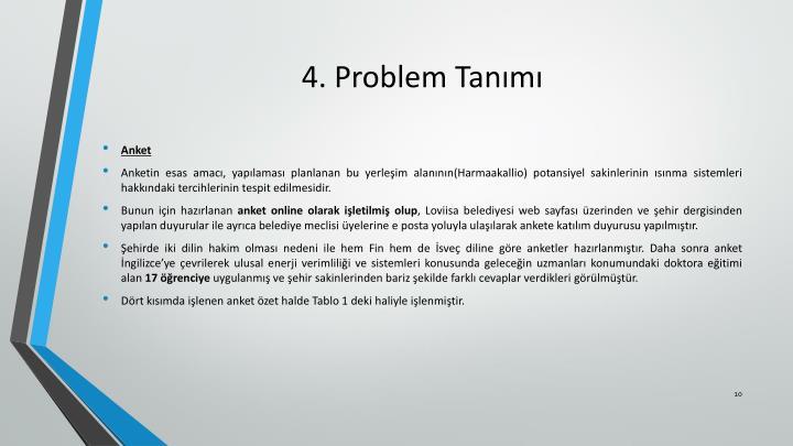 4. Problem Tanımı