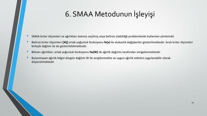 6. SMAA Metodunun İşleyişi