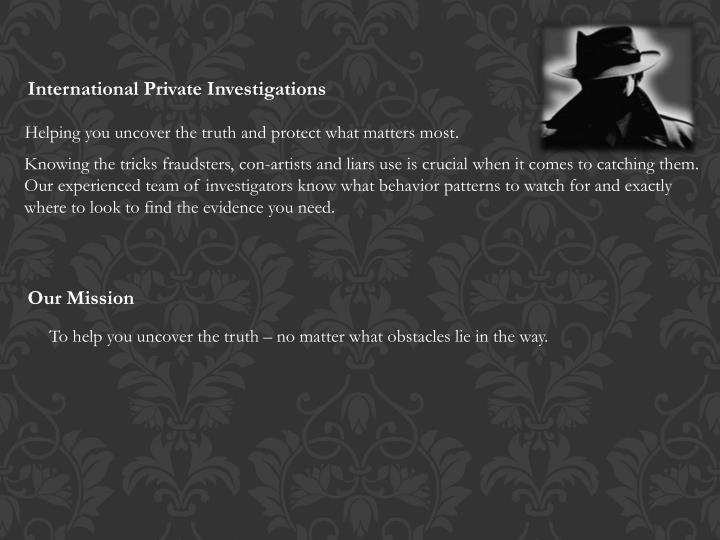 International Private Investigations