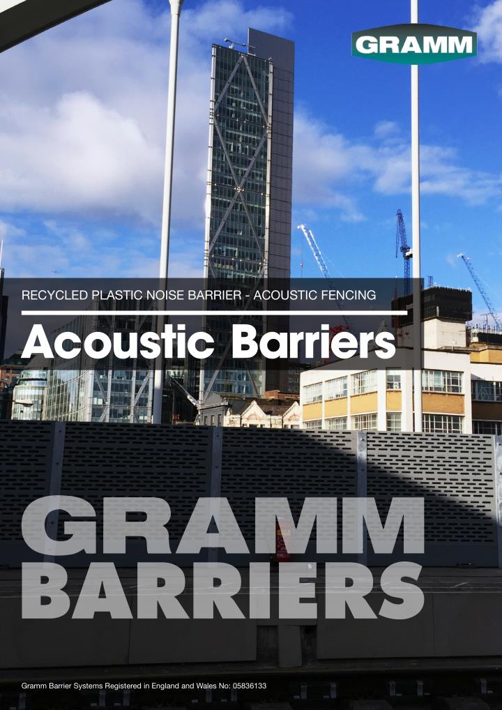 RECYCLED PLASTIC NOISE BARRIER - ACOUSTIC FENCING
