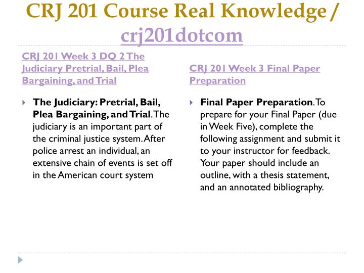 CRJ 201 Course Real Knowledge /