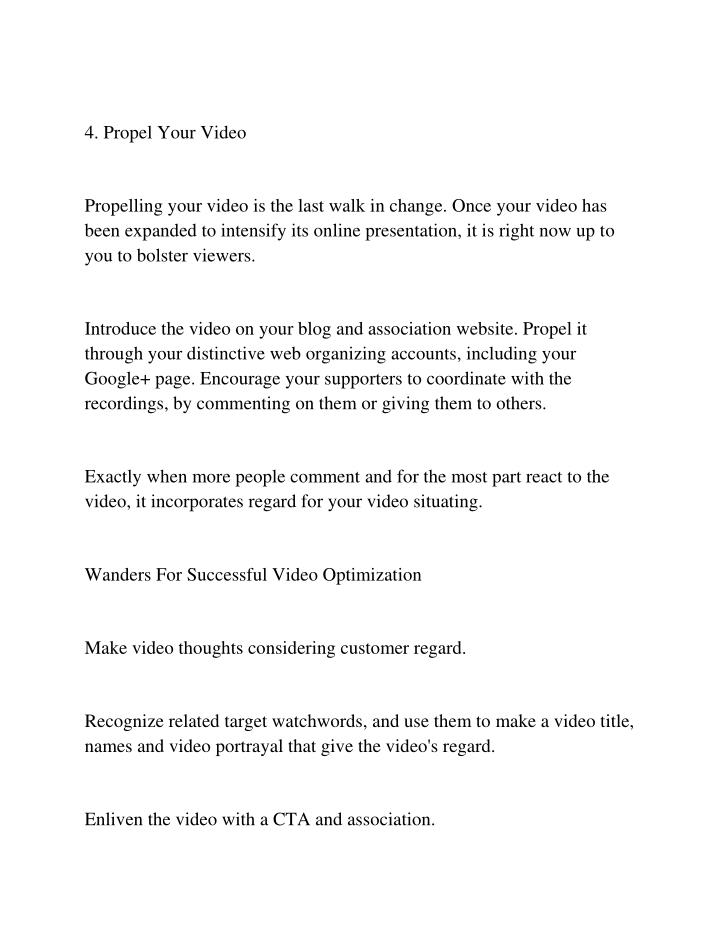 4. Propel Your Video
