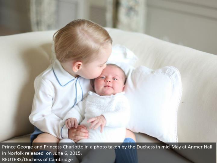 Prince George and Princess Charlotte in a photograph taken by the Duchess in mid-May at Anmer Hall in Norfolk discharged on June 6, 2015.  REUTERS/Duchess of Cambridge