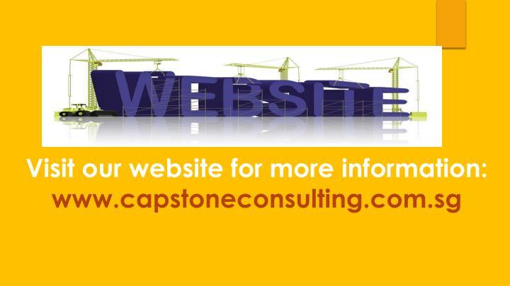 Visit our website for more information: