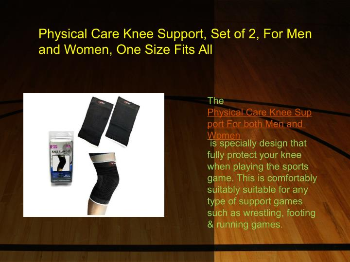 Physical Care Knee Support, Set of 2, For Men