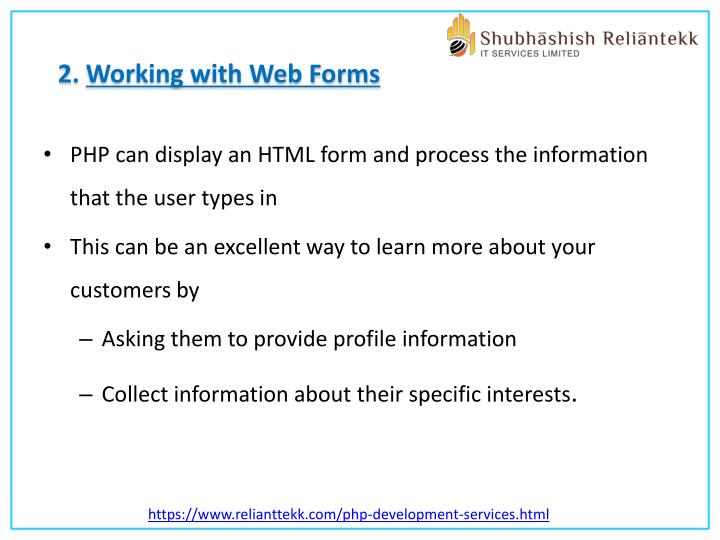 2. Working with Web Forms