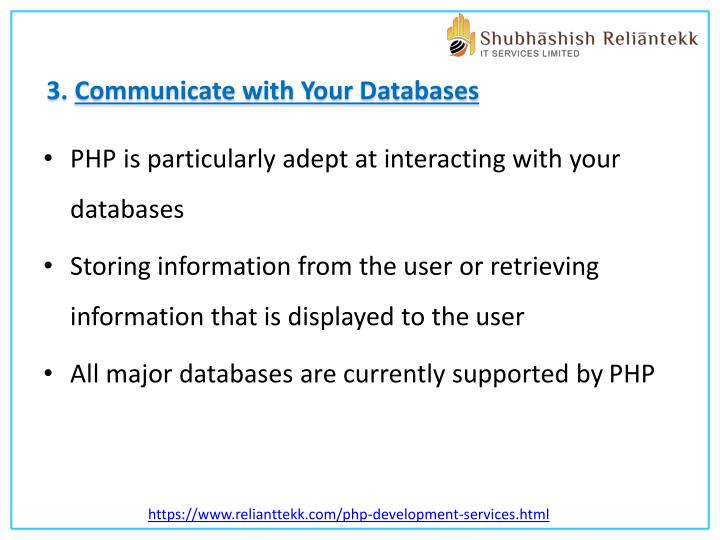 3. Communicate with Your Databases