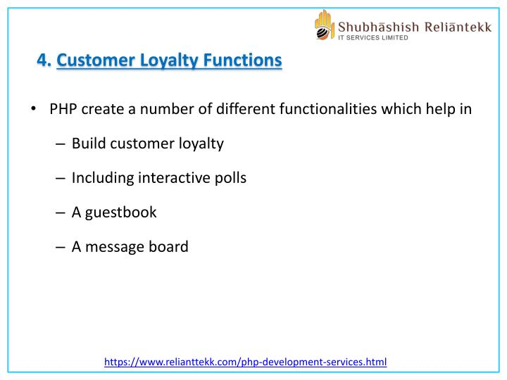 4. Customer Loyalty Functions