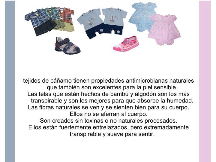 tejidos de cáñamo tienen propiedades antimicrobianas naturales