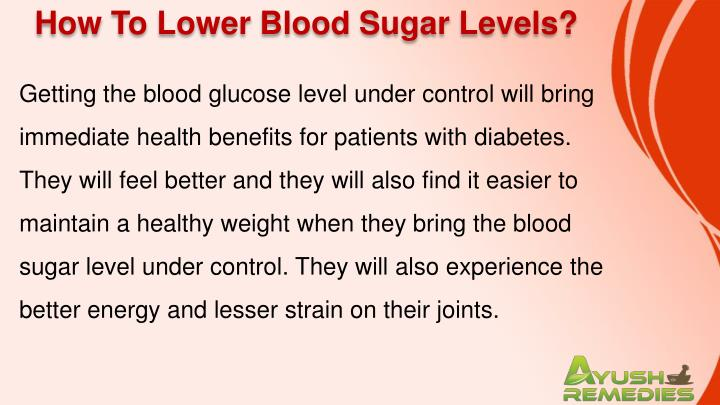How To Lower Blood Sugar Levels?