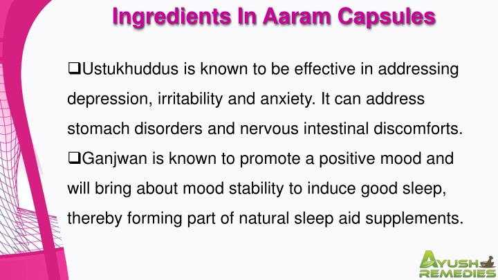 Ingredients In Aaram Capsules
