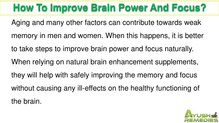 How To Improve Brain Power And Focus?