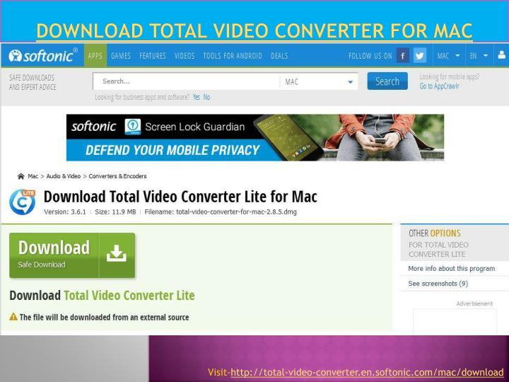 Download total video converter for mac