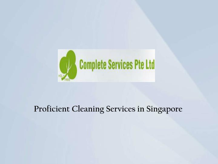 Proficient Cleaning Services in Singapore