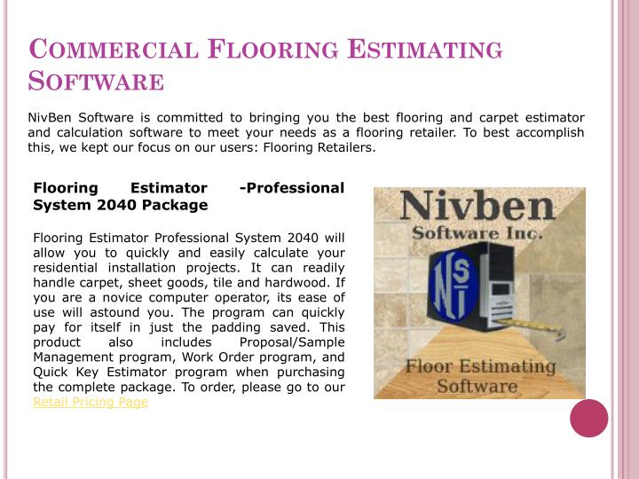 Commercial flooring estimating software
