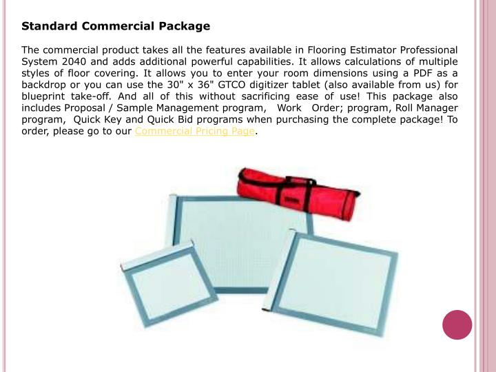 Standard Commercial Package