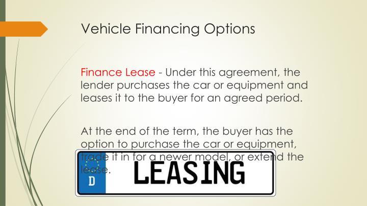 Vehicle Financing Options