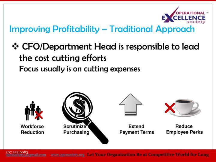 Improving Profitability –