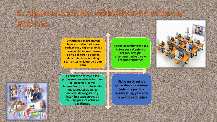 5. Algunas acciones educativas en el tercer entorno
