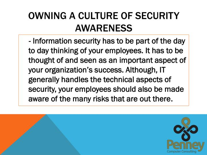 Owning a culture of security awareness