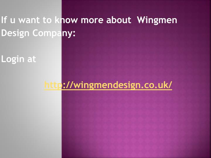 If u want to know more about  Wingmen