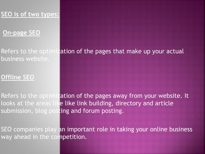 SEO is of two types