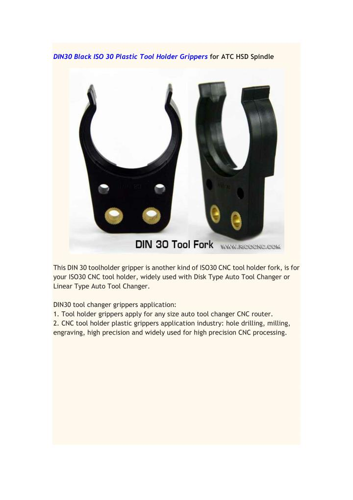 DIN30 Black ISO 30 Plastic Tool Holder Grippers