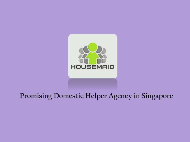 Promising Domestic Helper Agency in Singapore