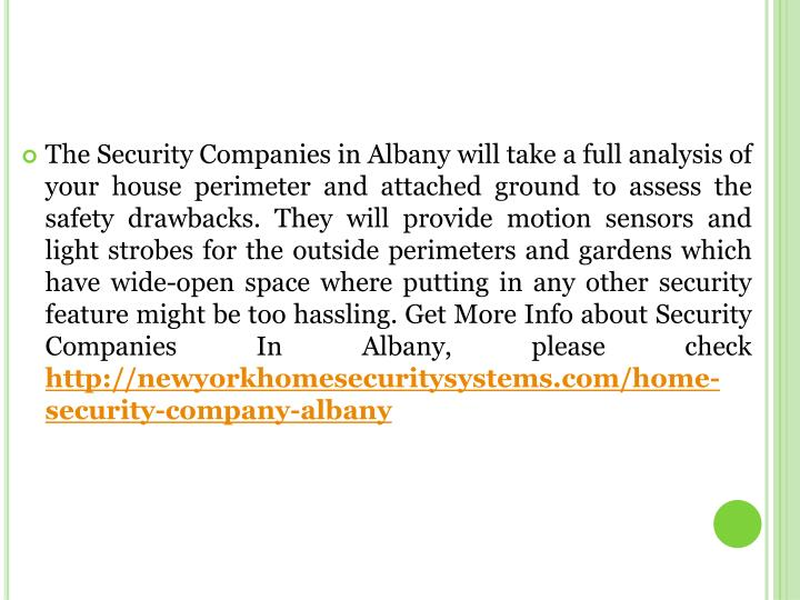 The Security Companies in Albany