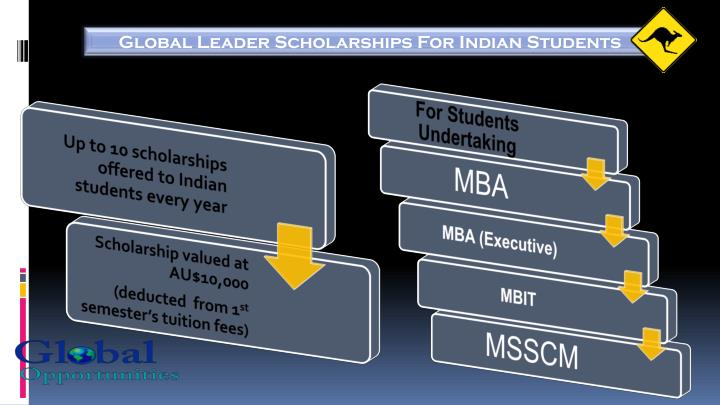 Global Leader Scholarships For Indian Students