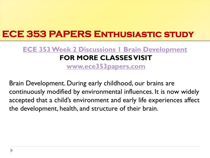 ECE 353 PAPERS Enthusiastic study