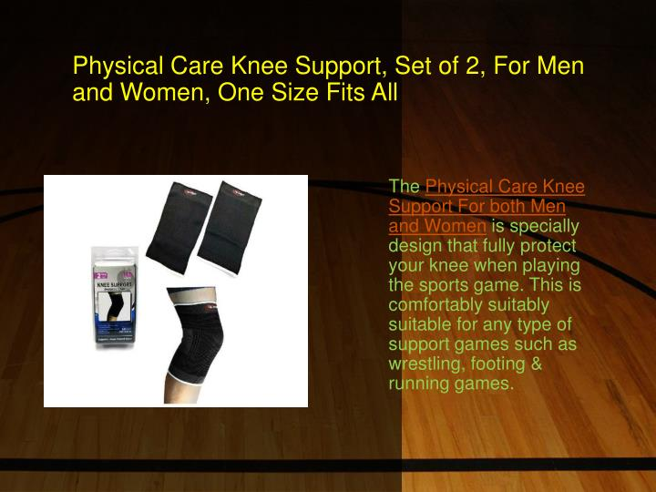 Physical care knee support set of 2 for men and women one size fits all